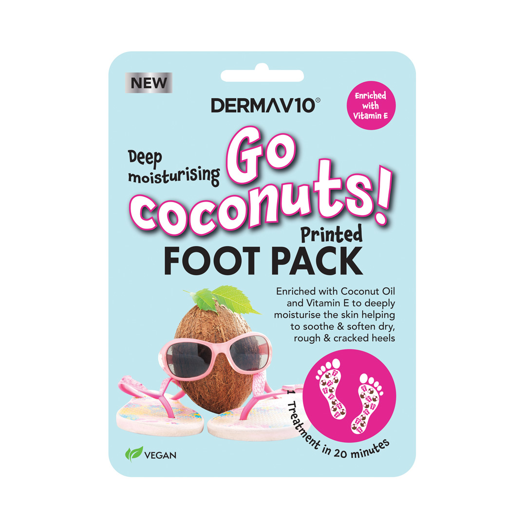 Go Coconuts Printed Foot Pack