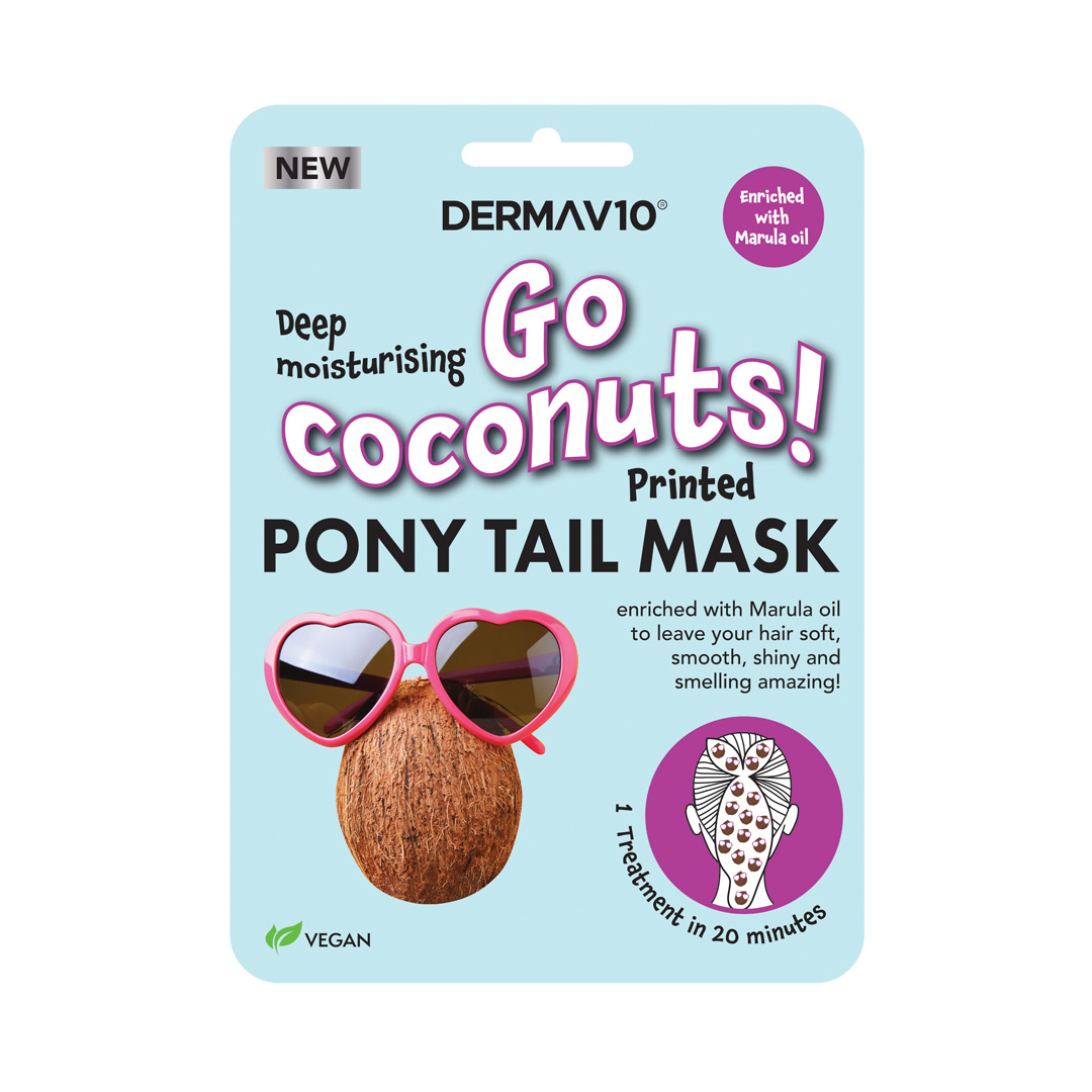 Go Coconuts Printed Pony Tail Mask